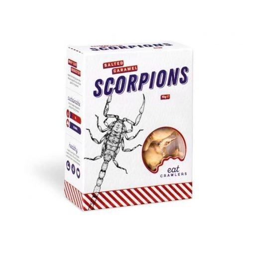 Escorpiones recubiertos de chocolate y caramelo salado Eat Crawlers