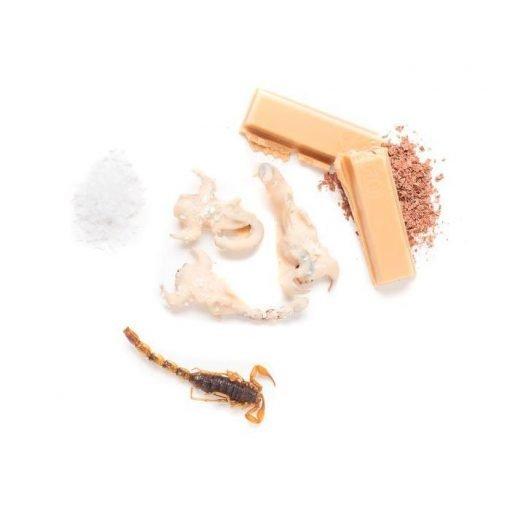 Escorpiones recubiertos de chocolate y caramelo salado Eat Crawlers producto