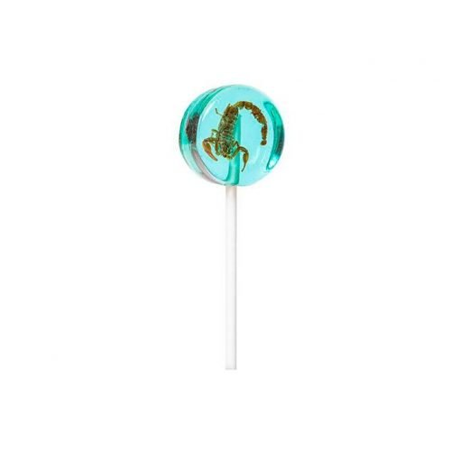 Lollipop de escorpion y arandanos Eat Crawlers