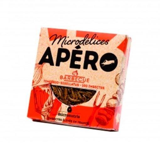 Snack de gusanos y grillos sabor barbacoa micronutris