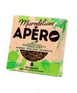 Snack de gusanos y grillos sabor garden party micronutris