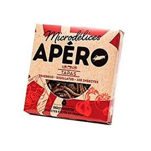 Snack de gusanos y grillos sabor tapas micronutris